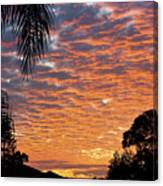 Brilliant Sunset During Winter Canvas Print