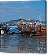 Bringing In The Lifeboat Canvas Print