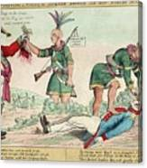 British And American Indian Raids Canvas Print