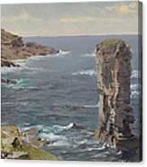 British Coastal View. Coast Of Cornwall Canvas Print