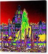 British Columbias Capitol Building At Night Canvas Print