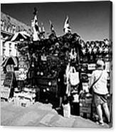 british english souvenir stall London England UK Canvas Print