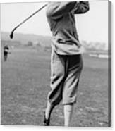 British Golfer Sir Ernest Holderness Swinging Canvas Print