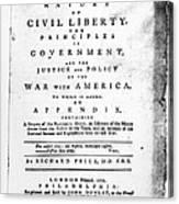 British Pamphlet, 1776 Canvas Print