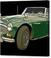 British Racing Green Canvas Print