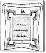 British Redoubt, 1777 Canvas Print