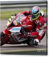 British Superbike Rider Barry Burrell   Canvas Print