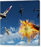 British Supermarine Spitfires Battle Canvas Print