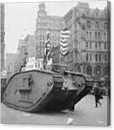 British Tank In New York Canvas Print