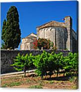 Brittany Vineyard And Monastery  Canvas Print