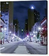 Broad Street At Night Canvas Print