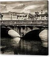 Broadway Bridge With Clouds Canvas Print