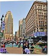 Broadway On 34th Street Canvas Print