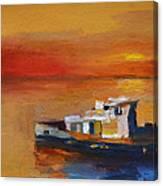 Brod Na Klisanskom Kanalu Canvas Print