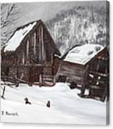 Broken Barn Canvas Print