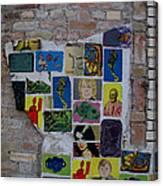 Broken Collage Canvas Print