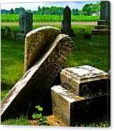 Broken Grave Canvas Print