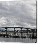 Broken Jetty And Franklin Roosevelt Memorial Bridge   Canvas Print