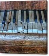 Broken Keys Canvas Print