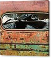 Broken Rear View Window Canvas Print