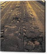 Broken Road Canvas Print