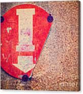 Broken Round Sign With Arrow Canvas Print