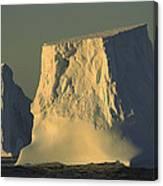 Broken Tabular Icebergs Antarctica Canvas Print