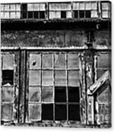 Broken Windows In Black And White Canvas Print