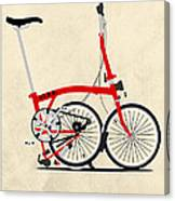 Brompton Bike Canvas Print