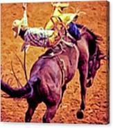 Bronco Bustin Canvas Print