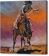 Bronco Riding Canvas Print