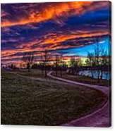 Bronco Sunset Canvas Print