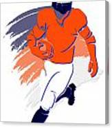 Broncos Shadow Player2 Canvas Print