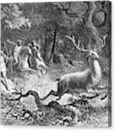 Bronze Age, Hunting Scene Canvas Print
