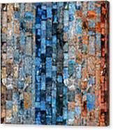 Bronze Blue Wall Canvas Print