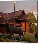 Bronze Elk At Taprock Canvas Print