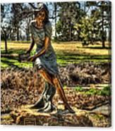 Bronze Girl At Woodward Park Canvas Print