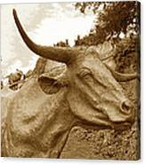 Bronze Longhorn Canvas Print