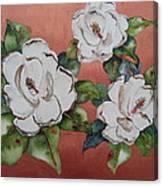 Bronze Magnolia Canvas Print