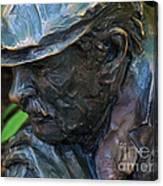 Bronze Man Sitting Canvas Print