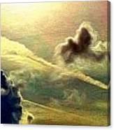 Bronzed Clouds - Vertical Canvas Print