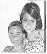 Brooke And Carter Canvas Print