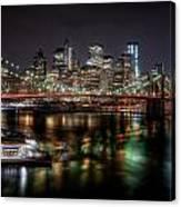 New York City Skyline From Brooklyn Canvas Print