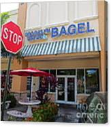 Brooklyn Bagel Restaurant In Delray Beach. Florida. Canvas Print