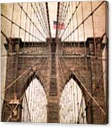 Brooklyn Bridge Approach Canvas Print