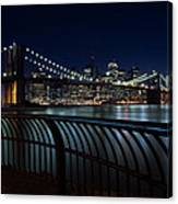 Brooklyn Bridge At Night Canvas Print