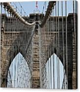 Brooklyn Bridge Cables Nyc Canvas Print