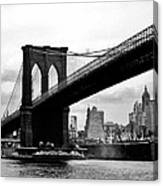 Brooklyn Bridge Circa 1955 Canvas Print