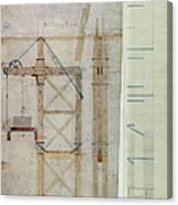 Brooklyn Bridge: Diagram Canvas Print