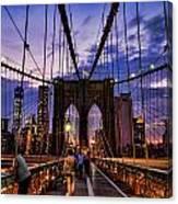 Brooklyn Bridge Evening Canvas Print